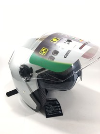 Open scooter helmet with glasses